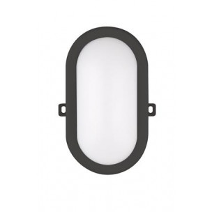 139760 LED Bulkhead Basic 12W 3000K Zwart Ovaal 820lm IP54