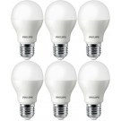 6 stuks Philips LED lamp E27 4W 6500K
